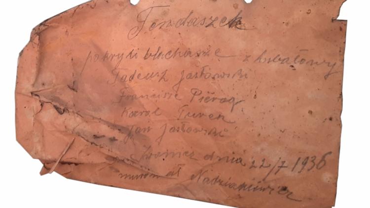 Remont kaplicy cmentarnej – odnaleziono kopertę datowaną na 22 lipca 1936 r.