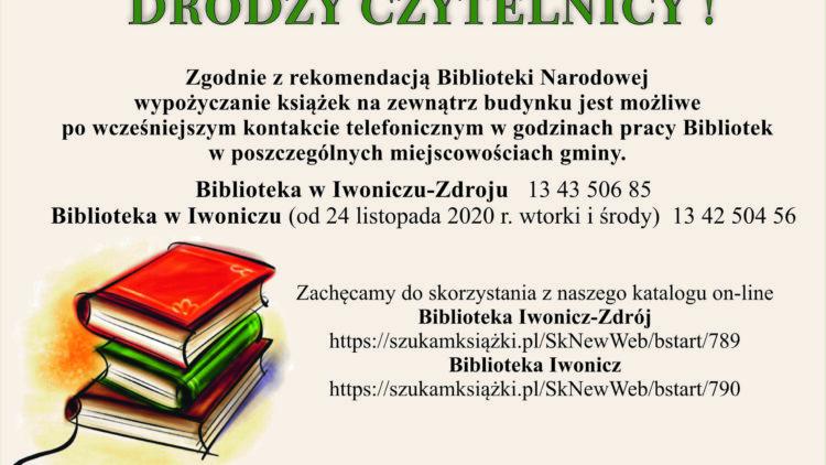 INFORMACJA ! Biblioteka Iwonicz-Zdrój oraz Iwonicz
