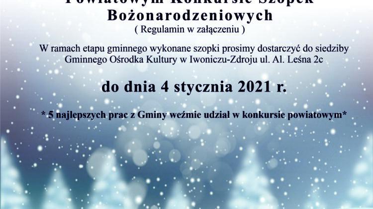 Powiatowy Konkurs Szopek Bożonarodzeniowych
