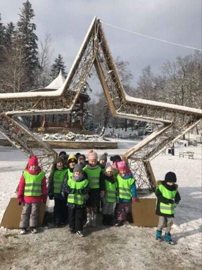 Pierwsze zabawy na śniegu