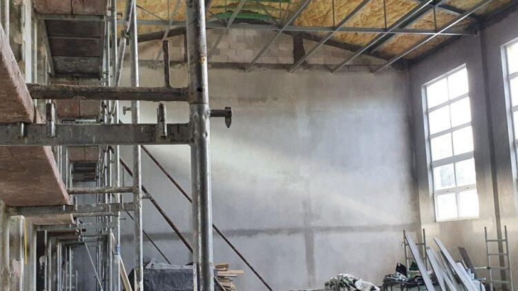 Aktualne prace przy budowie sali sportowej w Lubatówce