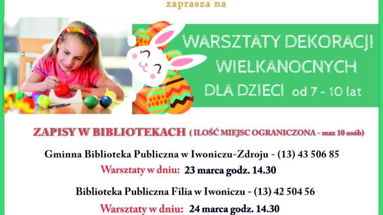 Warsztaty Dekoracji Wielkanocnych dla dzieci 7-10 lat