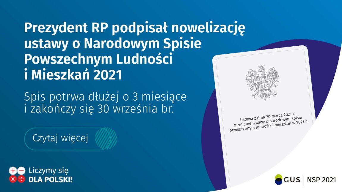 Narodowy Spis Powszechny został przedłużony do 30września2021 r.