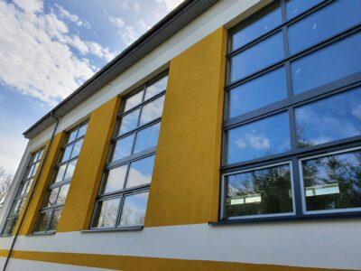 Stan zaawansowania prac budowy hali sportowej w Lubatówce