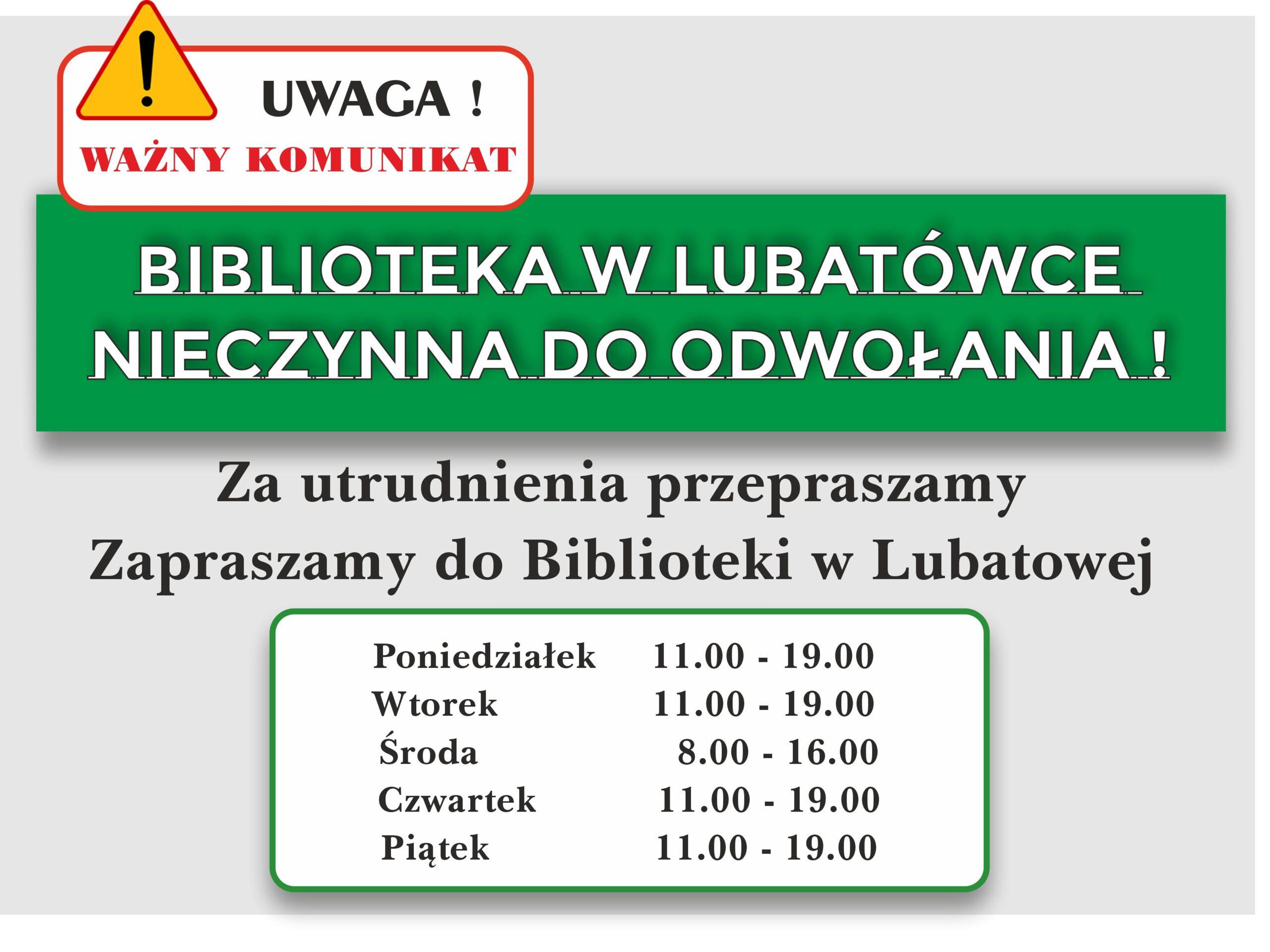 Komunikat-Biblioteka