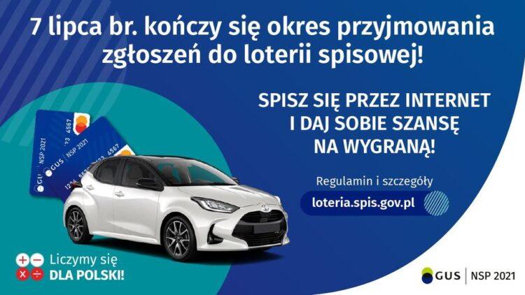 7 lipca 2021 r. kończy się okres przyjmowania zgłoszeń do loterii!