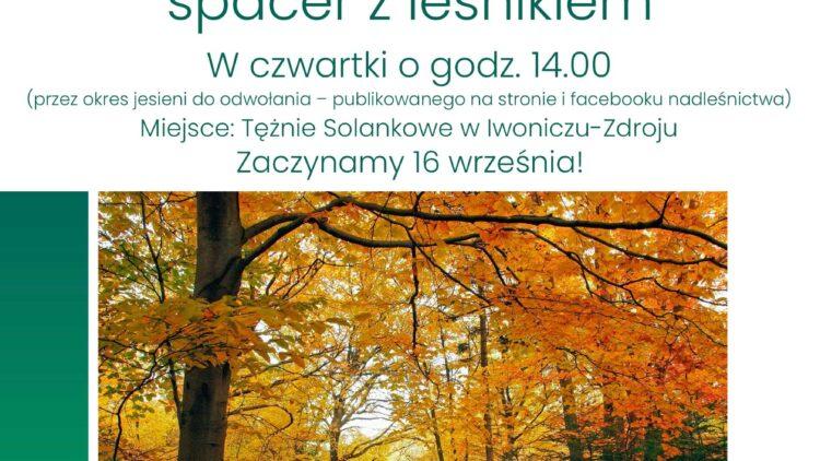 Zapraszamy na Jesienny spacer z leśnikiem